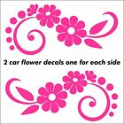 Flower Car Decal Sticker set X2 graphics one for each side of vehicle