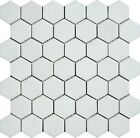"Thassos White 2"" Inch Hexagon Marble Polished Mosaic. ($18.00 Per Sheet)"