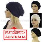 Unisex Men Ladies Women Knit Knitted Winter Slouch Rasta Beanie Hat RIBBED