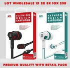 Lot JM26 3.5mm Microphone Bass Stereo In-Ear Earphones Headphone Headset Earbud