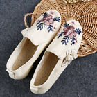 Chinese Literal Fashion Flats Shoes Embroidery Boat Shoes Cotton Lining