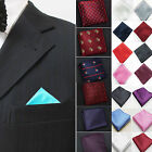 HA Men Pocket Square Hankerchief Paisley Dot Floral Hanky Wedding Party Fashion