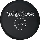 We The People 1776 US Constitution Freedom Rights Spare Tire Cover OEM Vinyl