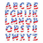 "3"" PATRIOTIC LETTER EMBROIDERED SEW-ON PATCH"