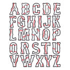 """3"""" BASEBALL LETTER EMBROIDERED SEW-ON PATCH"""