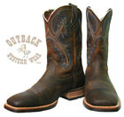 Ariat Men's Brown Oil Rowdy Quickdraw Square Toe Boots 10006714