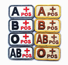 Hot Sale 3D Military Outdoor Tactical Blood Type A B AB O POS Hook Patch Badges