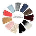 Neotrims Rayon Silky Loop Fringe Tassel Chainette Trimming, 10, 15 & 25cms Long