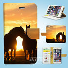 Horse Racing Wallet Case Cover Samsung Galaxy S6 7 8 9 10e Edge Plus Note 007