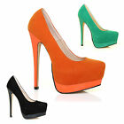SUPER High Platforms! Patent Heel Suede Upper Party Lap Pole Dancing Heels NEW!!