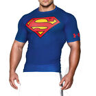 UNDER ARMOUR NEW Mens Blue Superman Compression Tshirt Gym Clothing BNWT