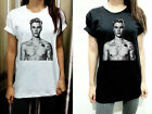 Justin Bieber Sexy Shirtless Tattoo Gift Womens T Shirt Tshirt Short Sleeve