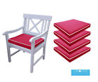 Memory Foam Garden Chair Cushion Seat Pad | Qty of 1,2,3,4,5, & 6 | 50x45 | Red