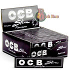 OCB Premium Black Kingsize Slim Rolling & Smoking Cigarette Papers | 3 5 10