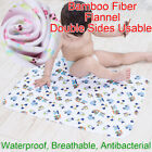 70x50cm Baby Bamboo Fiber Pure Cotton Flannel Changing Mat Colorfast Urine Pad