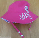 ROXY baby girl summer sun hat  size 45 cm NEW pink