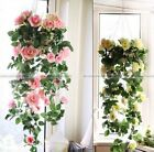 Artificial Fake Silk Rose Flower Ivy Vine Hanging Garland Wedding Decor YB