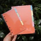 5Pcs A5/A6 Size Blank Index Multi-Coloured Tabs Divider Insert Refill Organiser