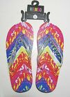 NWT Mambo Girls Thong Sandals Glitter, Colorful Insoles Size L (4-5)