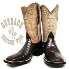 Black Jack Men's Chocolate Caiman Belly Square Toe Boots CH7119-96