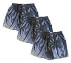 Mens Boxer Shorts 3 Pairs Gray Thai Silk Underwear Sleepwear Pajamas M L XL 2XL