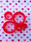 Pair of Red Ultra Slim Silicone Flesh Tunnel Plugs- 4mm-25mm