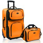 Expandable Luggage Set 2Pcs Rolling Travel Suitcase Tote Bag Carry On Lighweight