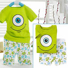 Boys Big Eye Printed T-Shirt Tee Top Casual Short Pants Outfit Set Clothing Suit