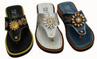 Women's Genuine Leather Ladies Mexican Design Sandals Style 35162
