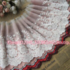 FP149 22cm,1yard Delicate embroidered flower tulle lace trim Sewing DIY Crafts