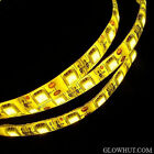 5050 yellow LED light strip waterproof adhesive backing AC DC power adapter