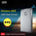 DM WFD009 32G 64G Wireless USB Flash Drive iOS Android PC WiFi Storage Sharing