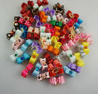 10-100PCS 3D Puppy Cat Dog Rhinestone Small Hair Bow Rubber Bands Pet Grooming