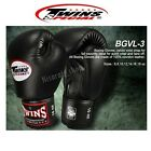NEW TWINS SPECIAL BOXING GLOVES MUAY THAI MMA BGVL-3 BLACK 8,10,12,14 OZ.GENUINE