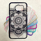 For Samsung Galaxy S5 S6 S7 Note 5 Big Mandala Rubberized Henna Flower Hard Case