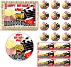 images pop corn - MOVIE AND POPCORN NIGHT Party Edible Cake Topper Image Frosting Sheet Cake NEW