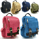 Women Unisex Vintage Classic Canvas Travel Casual Sport Rucksack Holiday Bag