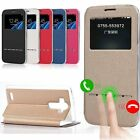 New Slim Flip Leather Window View Smart Leather Wallet Case Cover For LG G4 G5