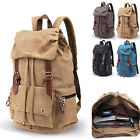Retro Canvas Large Backpack Ruscksack School Book bag Hiking bag Daypack Travel