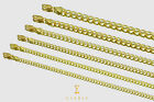 """2.5mm - 8mm 10k Solid Yellow Gold Cuban Link Chain Necklace Unisex 16""""-30"""""""