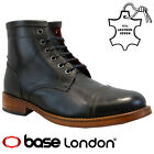MENS BASE LONDON REAL LEATHER ANKLE COMBAT COWBOY MILITARY ARMY BIKER BOOTS SIZE