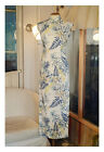 Vintage Chinese Dress Medium Long Cheongsam Linen Qipao BaiCaoYuan