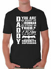 All Father's Day Gift For Dad Shirt Daddy Superhero T-shirt BLACK ONE