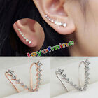 Kyпить Women Fashion Rhinestone Gold Silver Crystal Earrings Ear Hook Stud Jewelry на еВаy.соm