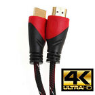 30FT Ultra Speed HDMI Cable V1.4 w/ Ethernet 1080P for 3D 4K TV, PS4 Black/Red