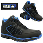 MENS SAFETY LIGHTWEIGHT TRAINERS SHOES BOOT WORK STEEL TOE CAP HIKER ANKLE SIZE