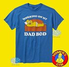 New The Simpsons Homer Working on my Dad Bod Men's Vintage Retro Shirt