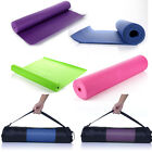 Non Slip Yoga Mat Fitness Exercise Gym Camping Workout Physio Pilates THICK 6mm