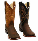 New Handmade Mens Cow Boy Unique Style Western Boots, Cow...