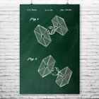 Star Wars TIE Fighter Poster Patent Print Gift Starwars Poster Starwars Wall Art $14.7 CAD